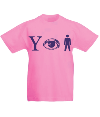 Kids Why Aye Man T-shirt Pink