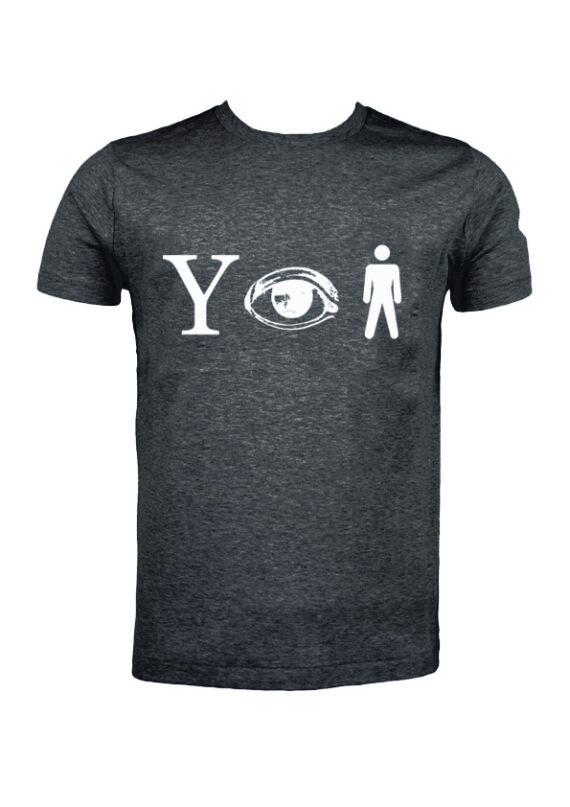 Why Aye Man T-shirt Dark Grey with White