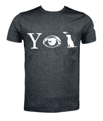 Why Aye Pet T-shirt Grey with White